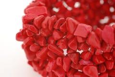 Pulsera del coral rojo imagen de archivo