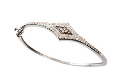 Pulsera del diamante Foto de archivo libre de regalías