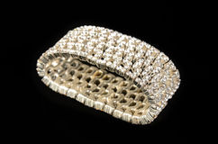 Pulsera del diamante Fotos de archivo libres de regalías