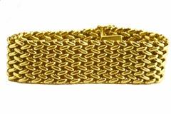 Pulsera del oro Imágenes de archivo libres de regalías