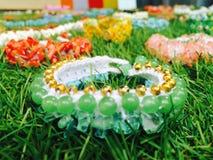 Pulsera hecha a mano, joyería hecha a mano, jade, hecho a mano tailandés Fotos de archivo