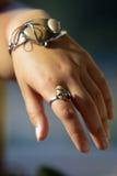 Pulsera y anillo únicos Foto de archivo libre de regalías