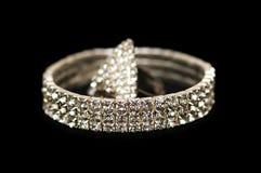 Pulsera y anillo aislados Imagenes de archivo