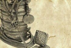 Pulsera y collar turcos antiguos Imagen de archivo libre de regalías