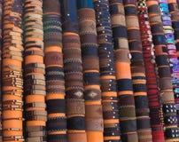 Pulseras de cuero para la venta Foto de archivo libre de regalías
