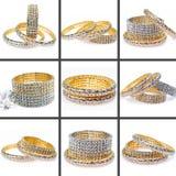 Pulseras del diamante Imagenes de archivo