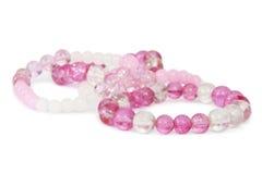 Pulseras moldeadas rosadas Fotografía de archivo libre de regalías