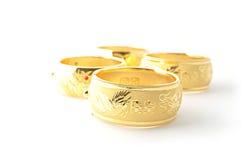 Pulseras tradicionales del oro Fotografía de archivo