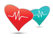 Pulserende hartgezondheidszorg en medisch concept Royalty-vrije Stock Foto's