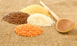 Pulses. Mixed pulses on hessian surface Royalty Free Stock Images