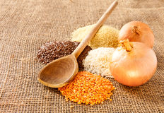 Pulses. Mixed pulses on hessian surface Stock Images