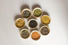 Pulses collection  on white background Stock Images