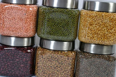 Pulses in jars Stock Images
