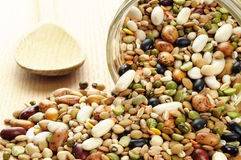 Pulses soup mixture. In a jar Royalty Free Stock Photo