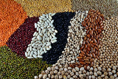 Pulses. Varied pulses,mixed in the studio table Stock Images