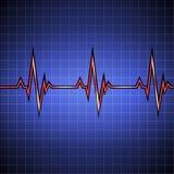 pulso Cardiograma no monitor na pilha Dados da frequência cardíaca Graphhics do vetor ilustração stock
