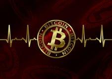 Pulso de Cryptocurrency Bitcoin Ilustração Stock