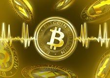 Pulso de Cryptocurrency Bitcoin Ilustração Royalty Free