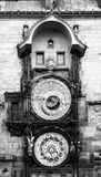 Pulso de disparo astronômico, aka Orloj de Praga, na cidade velha Hall Tower, praça da cidade velha, Praga, República Checa Imagens de Stock