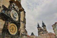 Pulso de disparo astronômico Câmara municipal velha praga República checa Fotografia de Stock