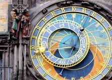 Pulso de disparo astronômico de Praga (Orloj) na cidade velha de Praga Foto de Stock Royalty Free