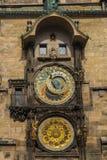 Pulso de disparo astronômico famoso Orloj em Praga Foto de Stock Royalty Free