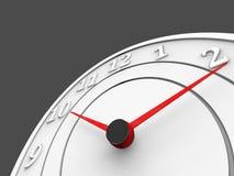 Pulso de disparo branco com seletores vermelhos - conceito do tempo e da programação Imagens de Stock