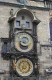 Pulso de disparo da astronomia de Praga em República Checa Imagem de Stock Royalty Free
