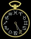 Zodíaco Leo Clock fotografia de stock