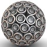 Pulso de disparo de parede abstrato no formulário da esfera ilustração royalty free