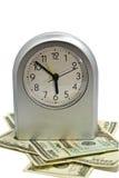 Pulso de disparo/dinheiro/conceito de prata do tempo Fotos de Stock Royalty Free