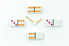 Pulso de disparo dos dominós Foto de Stock Royalty Free