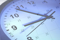 Pulso de disparo e calendário Fotografia de Stock