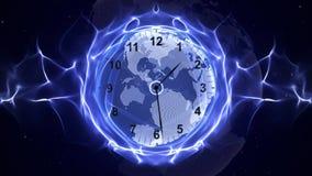 Pulso de disparo nas fibras, conceito do tempo, computação gráfica Imagens de Stock