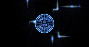 Pulso de los datos de Bitcoin almacen de metraje de vídeo