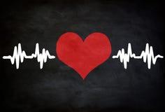 Pulso del corazón imágenes de archivo libres de regalías