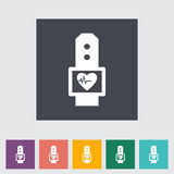 Pulsometer flat icon. Royalty Free Stock Photo