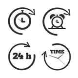 Pulsos de disparo, ícones do tempo ajustados Foto de Stock Royalty Free