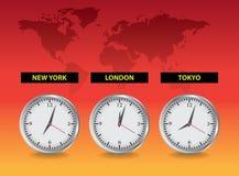 Pulsos de disparo Londres, New York, Tokio Foto de Stock Royalty Free