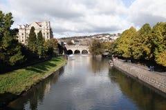 pulteney Великобритания моста ванны Стоковое фото RF