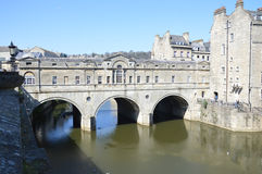 Pulteney Bridge. Across the river Avon in Bath. Photo taken April 2015 Stock Photography