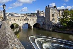 Pulteney Bridge And Weir In Bath Stock Photos