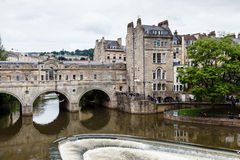 Pulteney Bridge in Bath stock photography