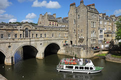 The Pulteney Bridge in Bath Stock Images