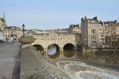 Pulteney Bridge, Bath, UK. Picture of the Pulteney Bridge taken early March 2017 Stock Photos