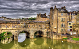 Pulteney Bridge over the River Avon in Bath Royalty Free Stock Photos