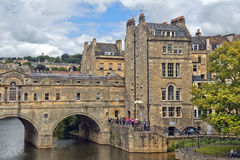 Pulteney Bridge over the River Avon in Bath, Somerset, England Stock Images