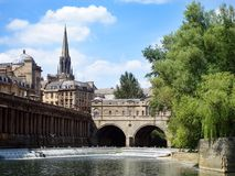 Pulteney bridge and weir Stock Images