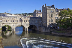 Pulteney Bridge and Weir in Bath Royalty Free Stock Image