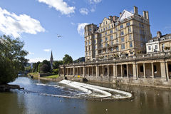 Pulteney Weir in Bath Stock Photography